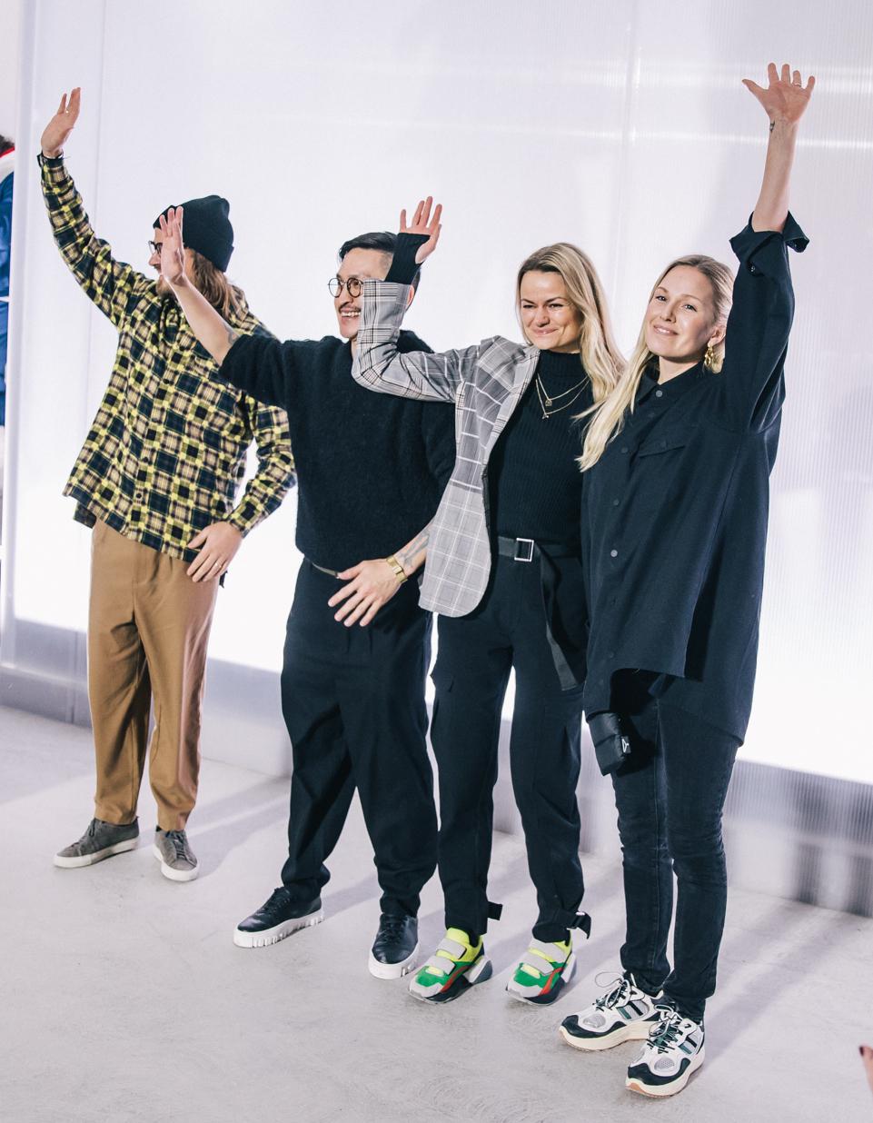 Holzweiler-teamet etter visningen i København i januar 2019. Foto: Holzweiler