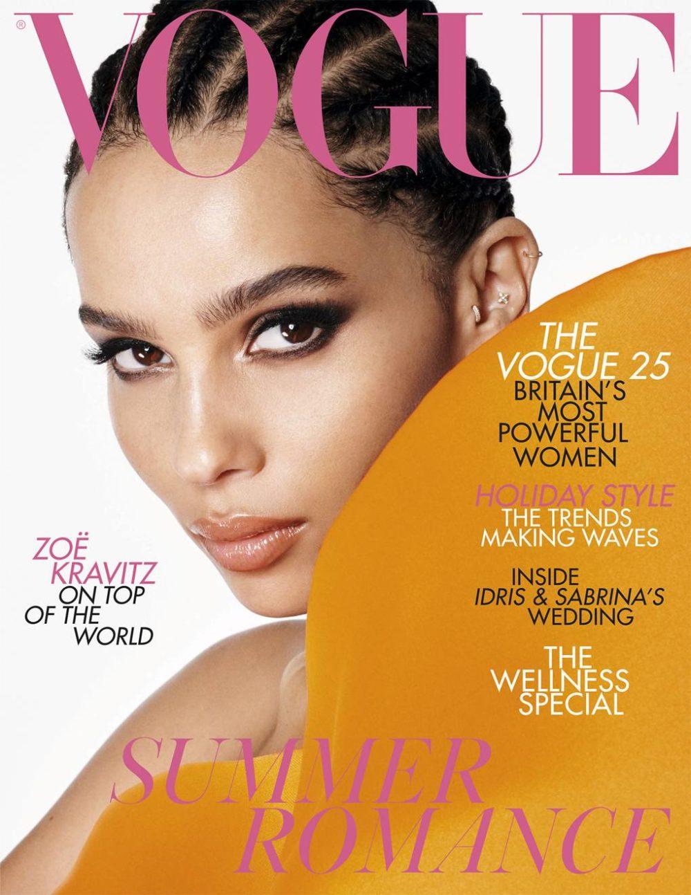Zöe Kravitz er på coveret av juliutgaven av Vogue UK