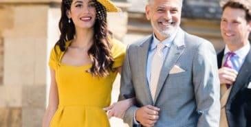 Amal Clooney som gjest i bryllup
