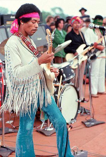 Frynsejakken var populær på Woodstock