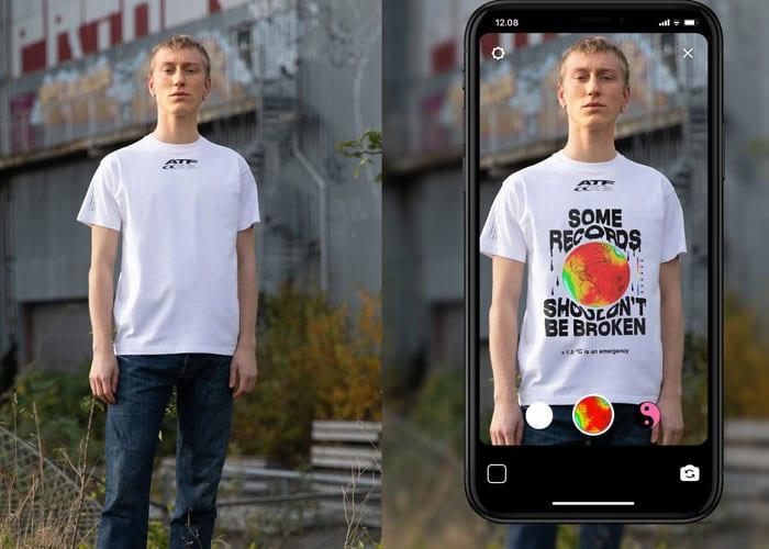Carlings lanserer verdens første augmentet reality t-skjorte. Foto: Carlings