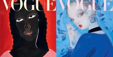 Vogue Italia med historisk cover