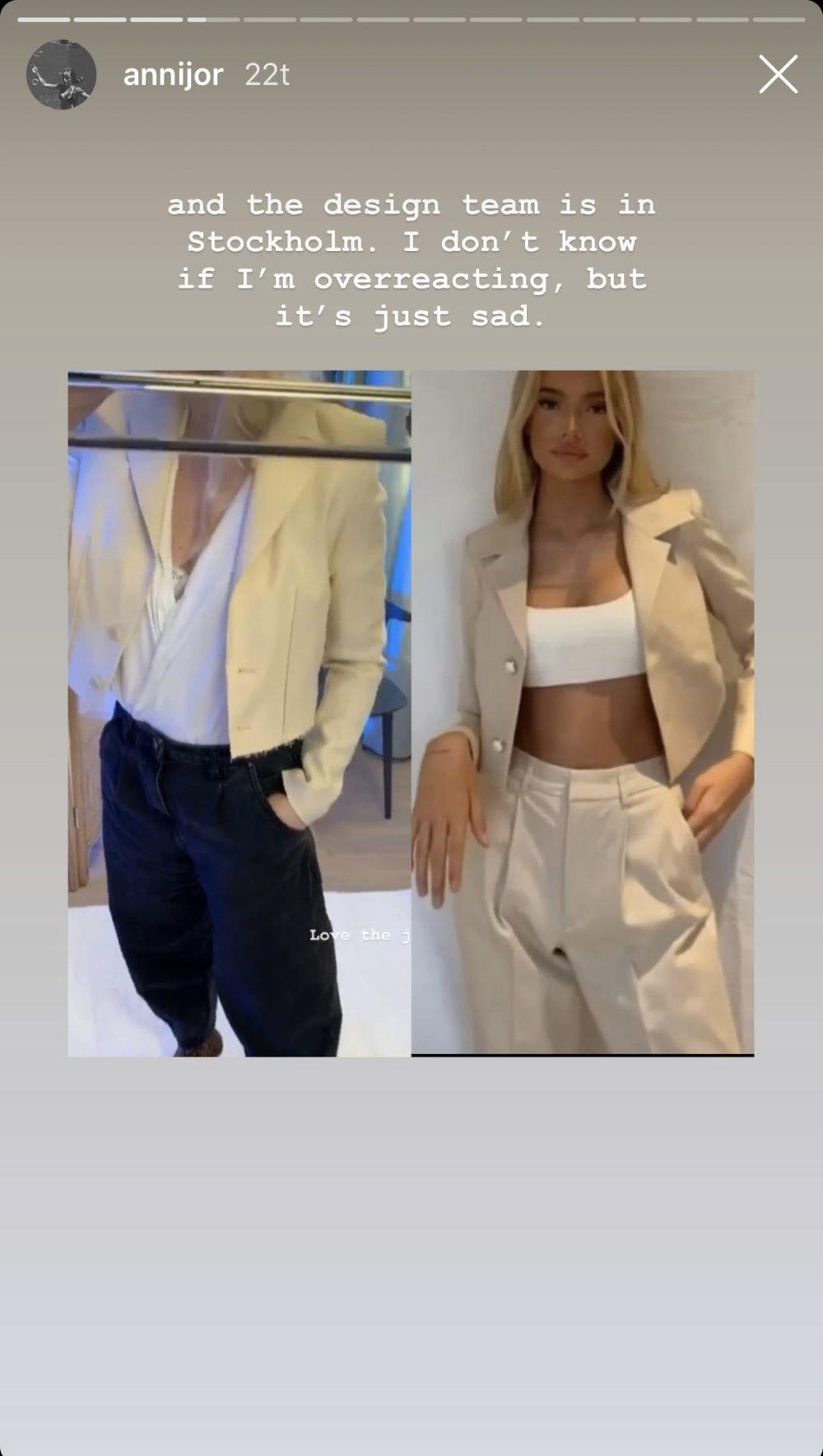 Anniken Jørgensen mener H&M har kopiert designet hennes