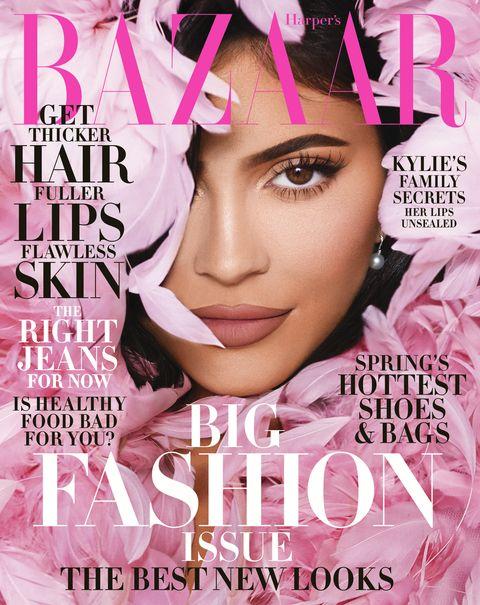 Kylie Jenner på forsiden av Harper's Bazaar