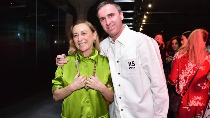 Raf Simons og Miuccia Prada