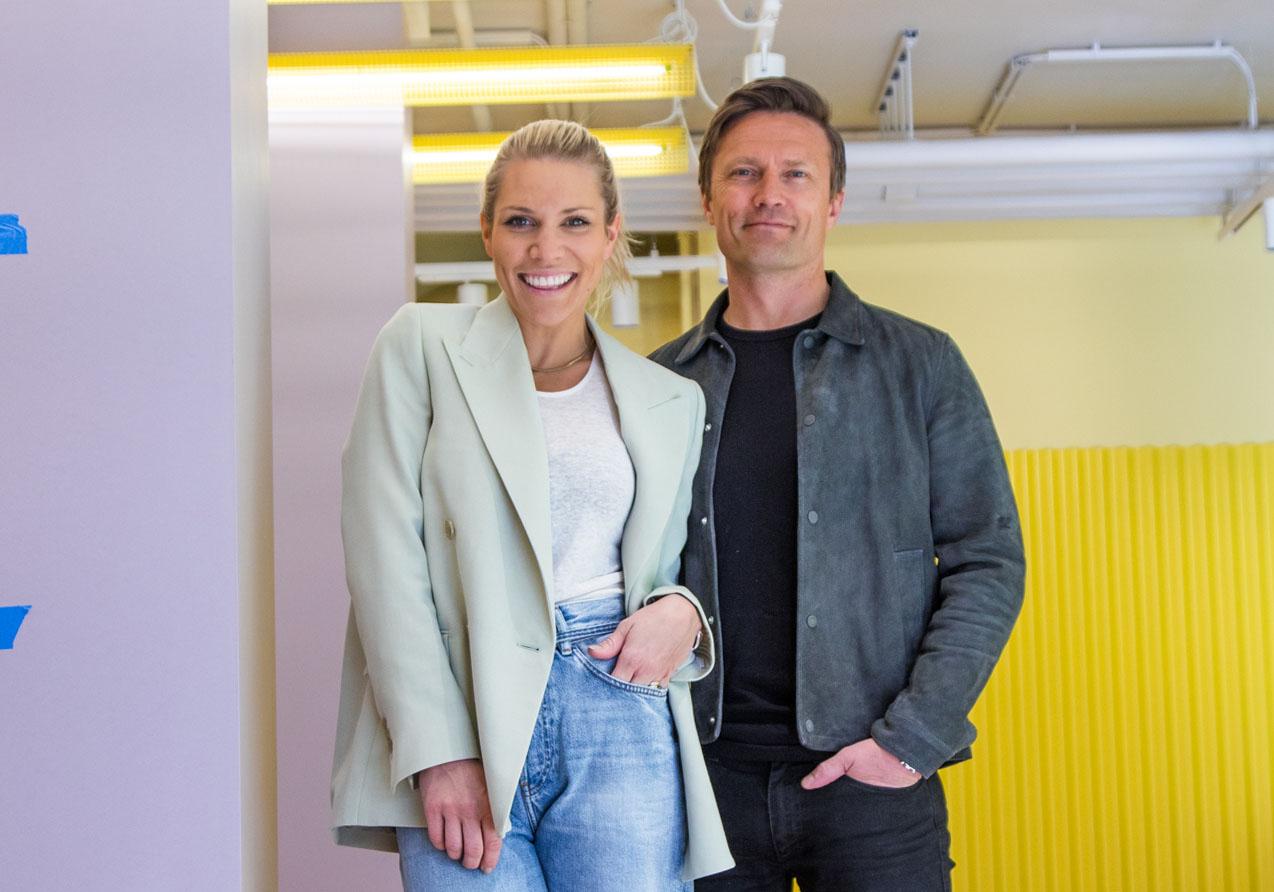 Anett Ringstad Jalland og Jørgen Jalland står bak det norske motekonseptet Moniker og Moniker Sports på Valkyrien i Oslo