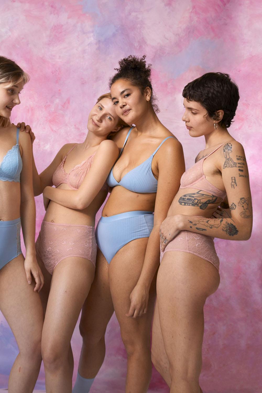 Monki er blant kleskjedene som har fokus på mangfold i sine undertøyskampanjer