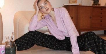 Karantene-looks fra Elsa Hosk (Instagram/hoskelsa)