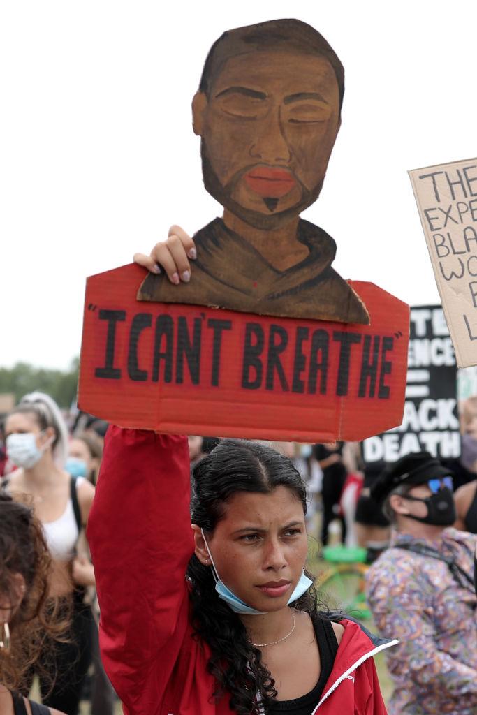 Demonstrasjon til minne for George Floyd for Black Lives Matter i London (Dan Kitwood/Getty)