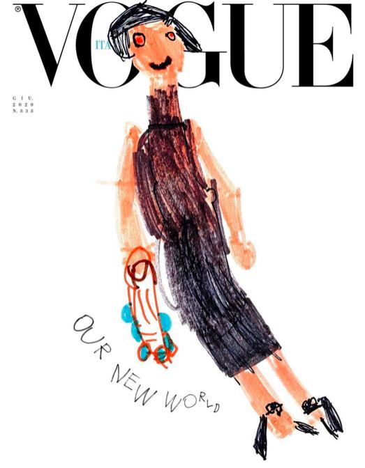 Vogue Italia sin juni-utgave er tegnet av barn