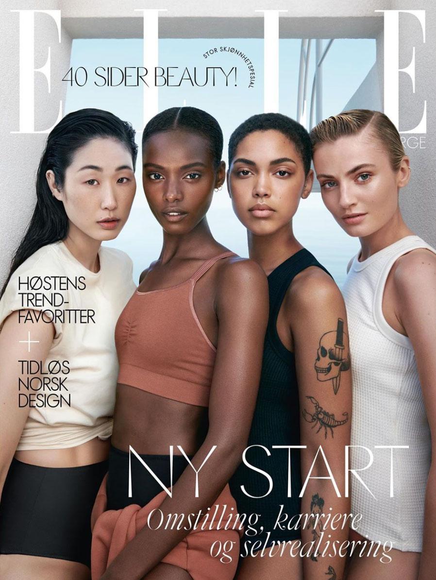 Norske motemagasiner med norske modeller på forsiden