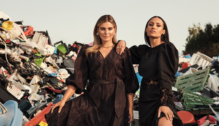 Janka Polliani og Mona Berntsen for H&M
