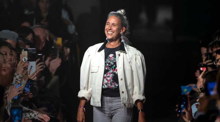Isabel Marant på catwalken