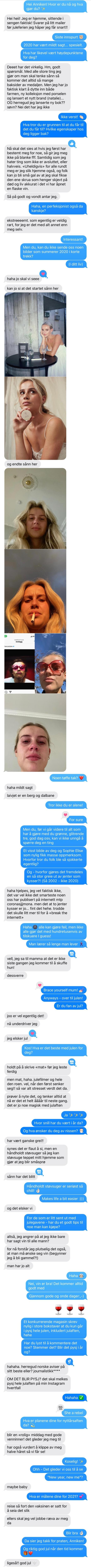 SMS-intervju med Anniken Jørgensen aka Annijor
