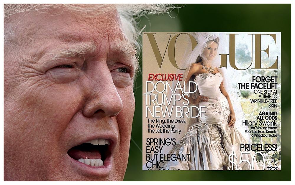 Donald Trump raser mot Vogue