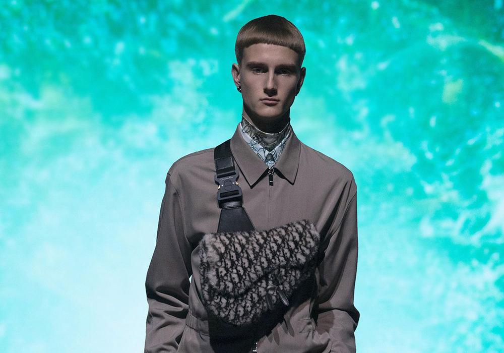 Marius Ruud på catwalken for Dior