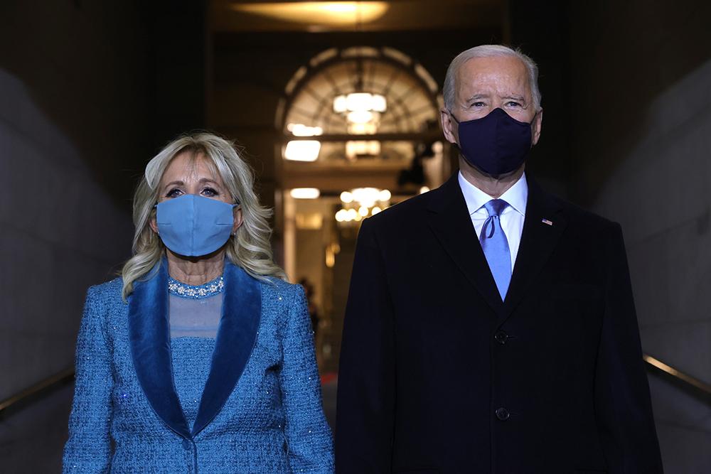 Jill Biden under presidentinnsettelsen av Joe Biden