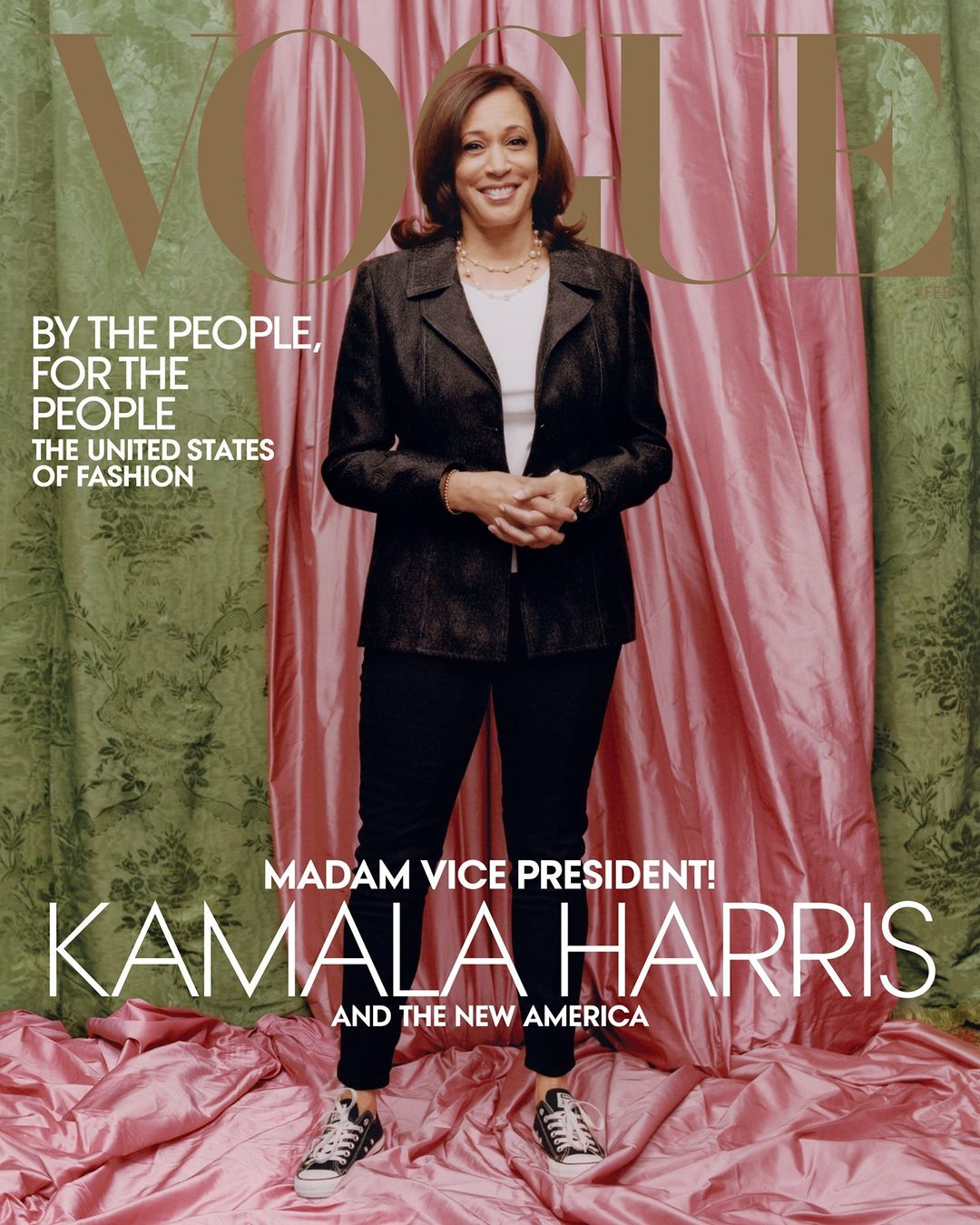 Kamala Harris på forsiden av Vogue