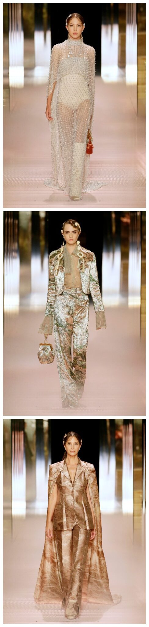 Fra Fendi sin Couture-visning for 2021
