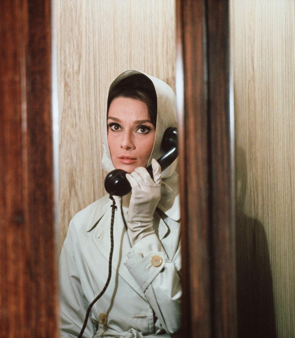 Audrey Hepburn med skaut i 1961
