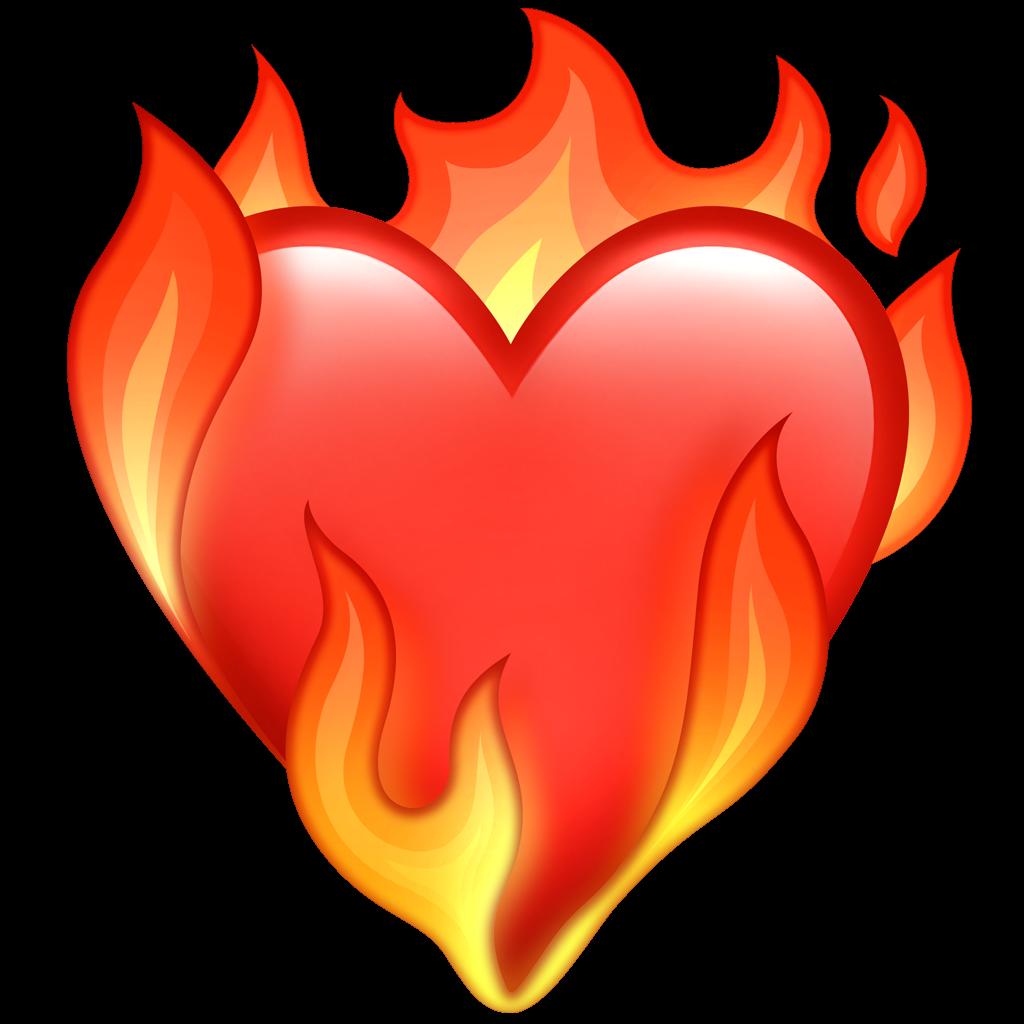 Et brennende hjerte er blant årets nye emojis