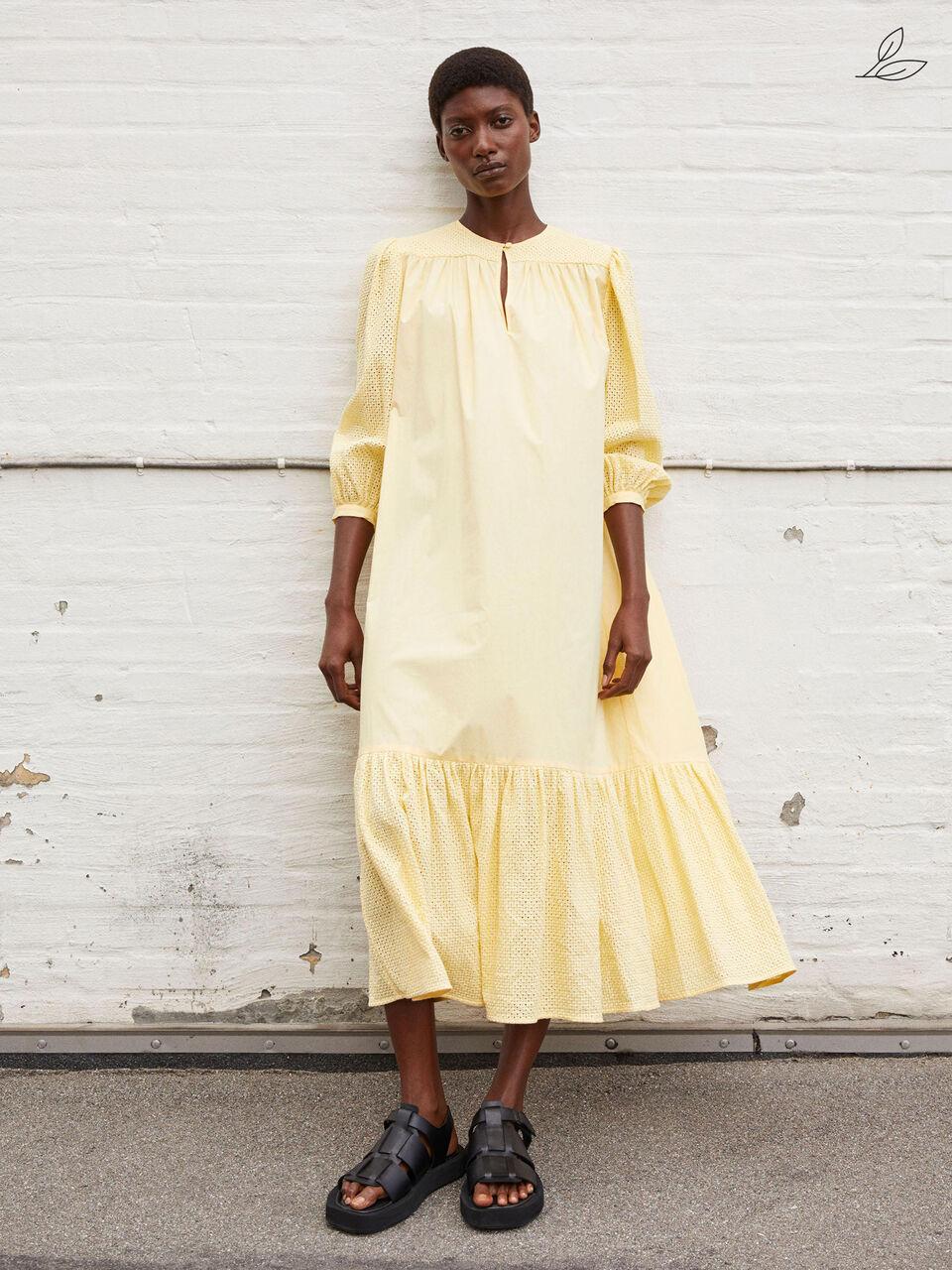 Gul kjole fra By Malene Birger
