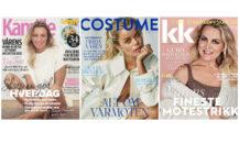 Norske magasiner har en nedgang i print år for år - her Costume, KK og Kamille