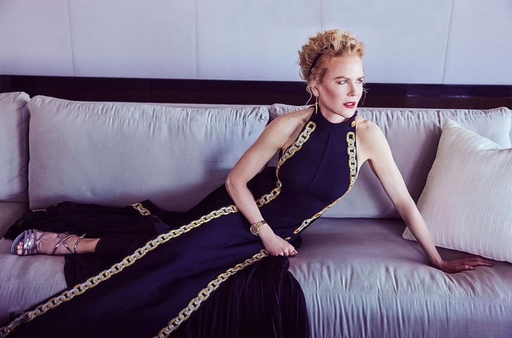 Nicole Kidman hjemme under Golden Globes